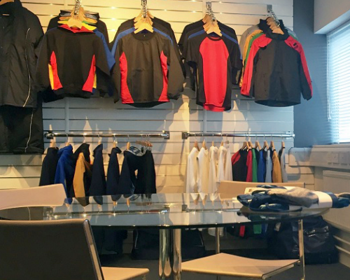 Behrens Sportswear's new showroom in Manchester for both branded and unbranded teamwear.