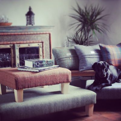 Footstools Lifestyle, Harris Tweed Footstools | Behrens Home Textiles Supplier, Manchester, United Kingdom