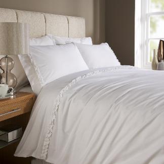 Ruffle White, Textured Duvet Sets | Behrens Home Textiles, Bed Linen / Bedding Supplier, Manchester, United Kingdom