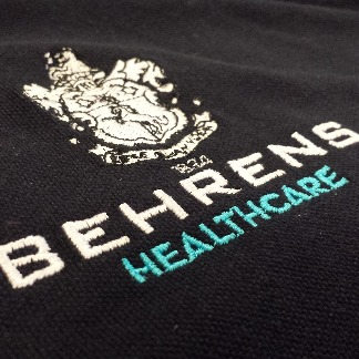 Bespoke Branding / Embroidery Service | NHS Hospitals & Trusts, Behrens Healthcare, Supplier, Manchester, United Kingdom
